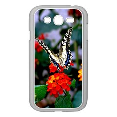 Butterfly Flowers 1 Samsung Galaxy Grand Duos I9082 Case (white) by trendistuff