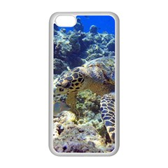 Sea Turtle Apple Iphone 5c Seamless Case (white) by trendistuff