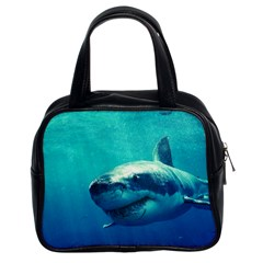 Great White Shark 1 Classic Handbags (2 Sides) by trendistuff