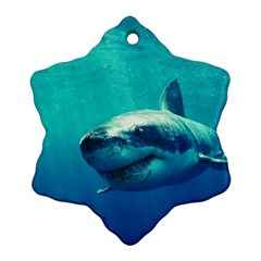 Great White Shark 1 Snowflake Ornament (2 Side)