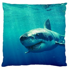 Great White Shark 1 Large Cushion Cases (one Side)  by trendistuff