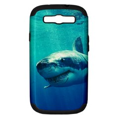 Great White Shark 1 Samsung Galaxy S Iii Hardshell Case (pc+silicone) by trendistuff