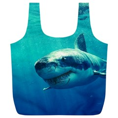 Great White Shark 1 Full Print Recycle Bags (l)  by trendistuff