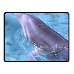 Dolphin 2 Fleece Blanket (small) by trendistuff