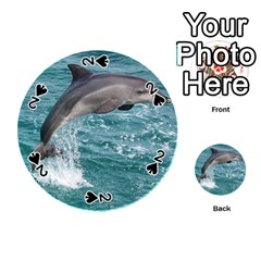 Dolphin Playing Cards 54 (round)  by trendistuff