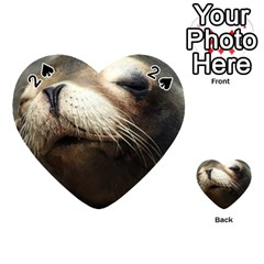 Cute Sea Lion Playing Cards 54 (heart)