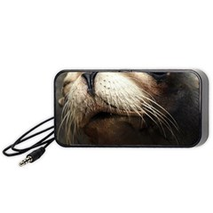 Cute Sea Lion Portable Speaker (black)  by trendistuff