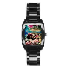 Coral Reefs 1 Stainless Steel Barrel Watch by trendistuff