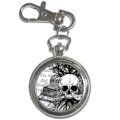 Skull & Books Key Chain Watches by waywardmuse