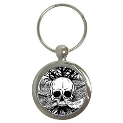 Skull & Books Key Chains (round)