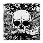 Skull & Books Tile Coasters Front