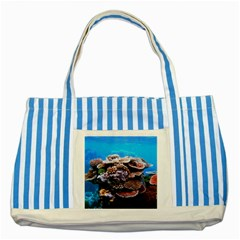 Coral Outcrop 2 Striped Blue Tote Bag