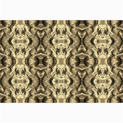 Gold Fabric Pattern Design Collage 12  X 18  by Costasonlineshop