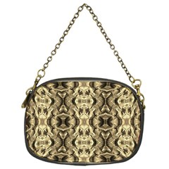 Gold Fabric Pattern Design Chain Purses (one Side)  by Costasonlineshop