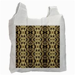 Gold Fabric Pattern Design Recycle Bag (two Side)