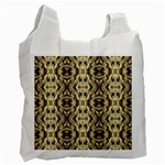 Gold Fabric Pattern Design Recycle Bag (Two Side)  Front