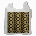 Gold Fabric Pattern Design Recycle Bag (Two Side)  Back
