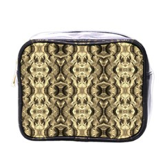 Gold Fabric Pattern Design Mini Toiletries Bags by Costasonlineshop