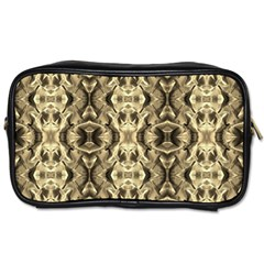 Gold Fabric Pattern Design Toiletries Bags by Costasonlineshop
