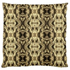 Gold Fabric Pattern Design Large Cushion Cases (two Sides)  by Costasonlineshop