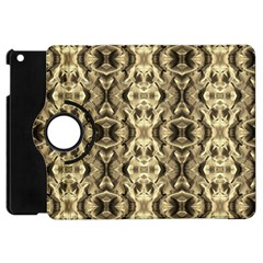 Gold Fabric Pattern Design Apple Ipad Mini Flip 360 Case by Costasonlineshop