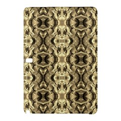 Gold Fabric Pattern Design Samsung Galaxy Tab Pro 12 2 Hardshell Case by Costasonlineshop
