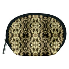 Gold Fabric Pattern Design Accessory Pouches (medium)  by Costasonlineshop