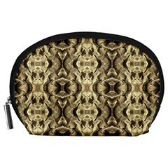 Gold Fabric Pattern Design Accessory Pouches (large)  by Costasonlineshop