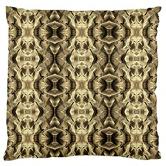 Gold Fabric Pattern Design Standard Flano Cushion Cases (two Sides)  by Costasonlineshop