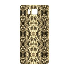 Gold Fabric Pattern Design Samsung Galaxy Alpha Hardshell Back Case by Costasonlineshop