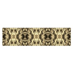 Gold Fabric Pattern Design Satin Scarf (oblong) by Costasonlineshop