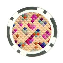 Mosaic & Co 01a  Poker Chip Card Guards by MoreColorsinLife