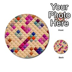 Mosaic & Co 01a  Multi Purpose Cards (round)  by MoreColorsinLife