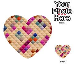 Mosaic & Co 01a  Multi Purpose Cards (heart)  by MoreColorsinLife