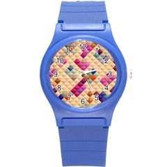 Mosaic & Co 01a  Round Plastic Sport Watch (s) by MoreColorsinLife