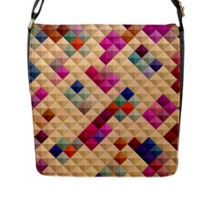 Mosaic & Co 01a  Flap Messenger Bag (l)  by MoreColorsinLife