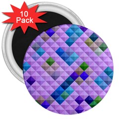 Mosaic & Co 01b 3  Magnets (10 Pack)  by MoreColorsinLife