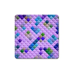 Mosaic & Co 01b Square Magnet by MoreColorsinLife