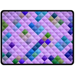 Mosaic & Co 01b Double Sided Fleece Blanket (large)  by MoreColorsinLife
