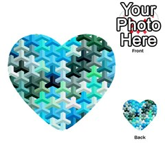 Mosaic & Co 02a Multi Purpose Cards (heart)  by MoreColorsinLife
