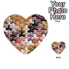 Mosaic & Co 02b Multi Purpose Cards (heart)  by MoreColorsinLife