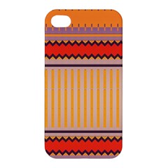 Stripes And Chevrons Apple Iphone 4/4s Hardshell Case by LalyLauraFLM