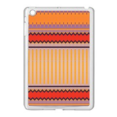 Stripes And Chevrons			apple Ipad Mini Case (white) by LalyLauraFLM