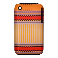 Stripes And Chevrons			apple Iphone 3g/3gs Hardshell Case (pc+silicone) by LalyLauraFLM