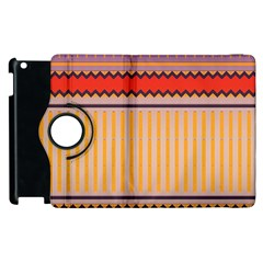 Stripes And Chevrons			apple Ipad 3/4 Flip 360 Case by LalyLauraFLM