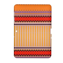 Stripes And Chevrons			samsung Galaxy Tab 2 (10 1 ) P5100 Hardshell Case by LalyLauraFLM