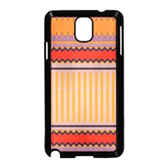 Stripes And Chevrons			samsung Galaxy Note 3 Neo Hardshell Case (black) by LalyLauraFLM