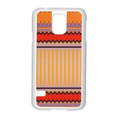 Stripes And Chevrons			samsung Galaxy S5 Case (white) by LalyLauraFLM