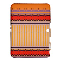 Stripes And Chevrons			samsung Galaxy Tab 4 (10 1 ) Hardshell Case by LalyLauraFLM