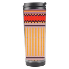 Stripes And Chevrons Travel Tumbler by LalyLauraFLM